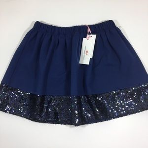 Vineyard Vines girls solid and sequin skirt NWT